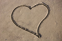 Corazón de la arena Imágenes de archivo libres de regalías