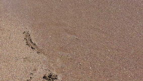 Corazón de la arena lavado por las ondas