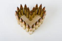 Corazón de la bala en ángulo desde arriba Fotos de archivo libres de regalías