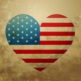 Corazón de la bandera americana ilustración del vector