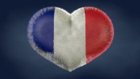 Corazón de la bandera de Francia ilustración del vector