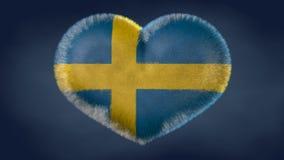 Corazón de la bandera de Suecia libre illustration