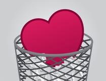 Corazón de la basura Foto de archivo libre de regalías