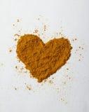 Corazón de la cúrcuma Fotos de archivo