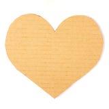 Corazón de la cartulina en un fondo blanco Foto de archivo