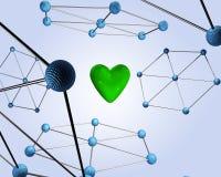 corazón de la ciencia 3D Fotos de archivo