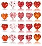 Corazón de la colección de la tarjeta del día de San Valentín stock de ilustración