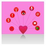 Corazón de la comunicación - ejemplo Fotos de archivo libres de regalías