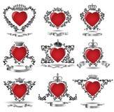 Corazón de la corona stock de ilustración