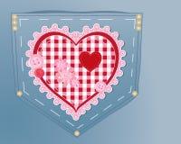 Corazón de la costura Fotografía de archivo