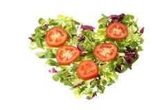 Corazón de la ensalada Foto de archivo libre de regalías