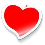 Corazón de la etiqueta engomada Imagenes de archivo