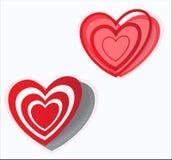 Corazón de la etiqueta engomada del día del ` s de la tarjeta del día de San Valentín Vector Imágenes de archivo libres de regalías