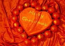 Corazón de la Feliz Navidad Imágenes de archivo libres de regalías