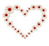 Corazón de la flor Fotos de archivo