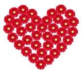 Corazón de la flor Imagen de archivo libre de regalías