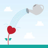 Corazón de la flor Imagenes de archivo