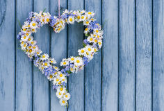 Corazón de la flor Fotografía de archivo