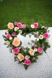 Corazón de la flor Foto de archivo libre de regalías