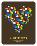 Corazón de la flor de la tarjeta de felicitación Fotos de archivo libres de regalías