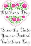 Corazón de la flor del día de madres stock de ilustración
