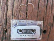 Corazón de la forma de la cinta de casete Foto de archivo
