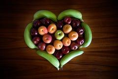 Corazón de la fruta Foto de archivo
