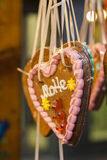 Corazón de la galleta decorativa de la Navidad Imagenes de archivo