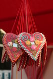 Corazón de la galleta del pan de jengibre Fotografía de archivo