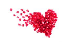 Corazón de la granada Foto de archivo libre de regalías