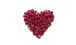 Corazón de la granada Imágenes de archivo libres de regalías