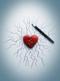 Corazón de la grieta Fotografía de archivo libre de regalías