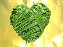 Corazón de la hierba Fotos de archivo