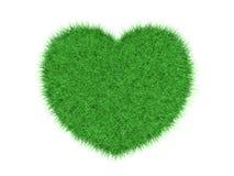 Corazón de la hierba verde Fotografía de archivo