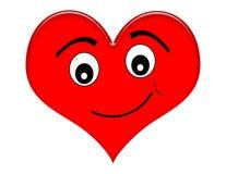 Corazón de la historieta con sonrisa Fotografía de archivo
