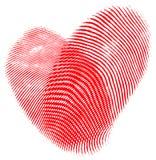 Corazón de la huella digital Fotos de archivo libres de regalías