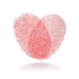 Corazón de la huella digital Fotografía de archivo