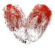 Corazón de la huella digital Fotografía de archivo libre de regalías