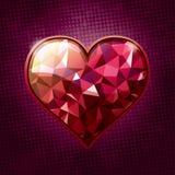 Corazón de la joya Imagen de archivo libre de regalías