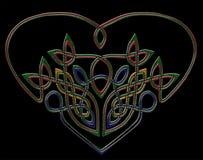 Corazón de la joya en de estilo celta Imagenes de archivo