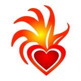 Corazón de la llama stock de ilustración