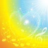 Corazón de la música Fotografía de archivo libre de regalías