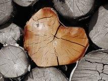 Corazón de la madera Foto de archivo