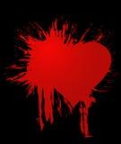 Corazón de la mancha blanca /negra ilustración del vector