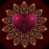 Corazón de la mandala Foto de archivo libre de regalías