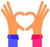 Corazón de la mano ilustración del vector