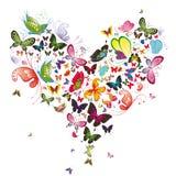 Corazón de la mariposa stock de ilustración