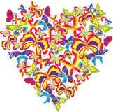 Corazón de la mariposa Foto de archivo libre de regalías