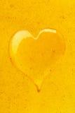 Corazón de la miel Fotos de archivo