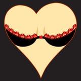 Corazón de la mujer Foto de archivo